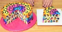 These Rainbow Leopard Spots Take The Cake! Here's How You Can Make Your Own Wild And Crazy Cake.