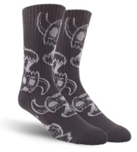 Toy Machine Skateboard Crew Socks - Monster Skull Charcoal $9.99