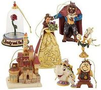 Jim Shore Disney Traditions Beauty & the Beast Ornaments - LOVE! They had this on disneystore.com for 1 day and sold out! BOO!