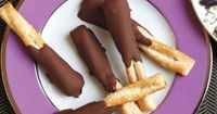 Holiday Recipes: Peanut butter and Chocolate Dipped Pretzels