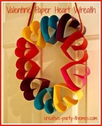 Valentine's Day Paper Crafts -- DIY Heart Wreath and Tree of Love