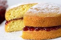 """Mary Berry uses a simple all-in-one method to make this mouth-watering Victoria sponge. Sandwiched with sweet, sticky jam �€"""" you'll want to make this cake time and time again! Get the recipe: http://www.goodtoknow.co.uk/recipes/495936/ma..."""