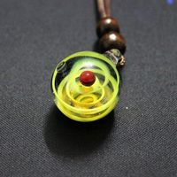 Yellow Galaxy Pendant Necklace Unique Gift Galaxy Pendant Necklace Universe Glass Jewelry Space Cosmos Design $19.99
