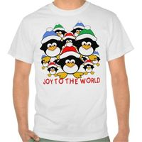 Joy to the World Penguins on Tshirts, Gifts