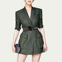 Vogue Sexy Attractive Slimming V-neck 9/10 Sleeves Skirt Suit Coat - Bonny YZOZO Boutique Store