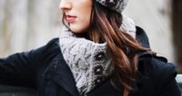 Free Pattern - Caledon Chunky Ingrid Hat & Cowl (Photo by Michele Woods)