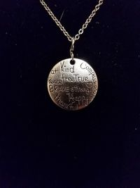 Positive Words Silver Pendant Necklace $5.00