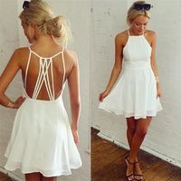 Backless Loose Swing Club Mini Cocktail Dress kr19.00