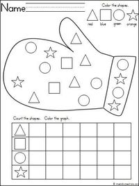 This is a mitten themed activity for your Kindergarten students to practice shapes and graphing. It's a wonderful math activity for any winter month. Download it for free.