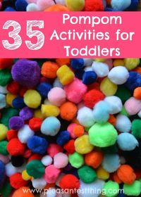 A collection of pompom activities toddlers love - all easy, with little setup or cleanup, using things you likely already have!