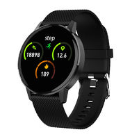 Bakeey T4 Ultra-thin bluetooth Music Weather Forcast Heart Rate Blood Pressure Oxygen Monitor Smart Watch