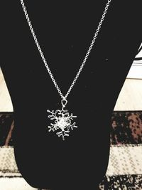 Crystal Cluster Silver Snowflake Necklace $5.00
