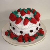 Free Strawberry Patterns   PDF Crochet Pattern - Strawberry Cake (Available in English and ...