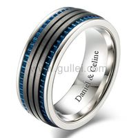 Gullei.com Custom Promise Ring for Him 8.5mm Titanium
