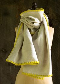 Laura's Loop: Edged Linen Wrap - The Purl Bee - Knitting Crochet Sewing Embroidery Crafts Patterns and Ideas!