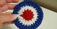 How to Crochet a 4th of July Coaster
