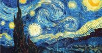 The Starry Night -- Vincent van Gogh This image is in the public domain with high resolution link, here: http://www.googleartproject.com/collection/moma-the-museum-of-modern-art/artwork/the-starry-night-vincent-van-gogh/320268/