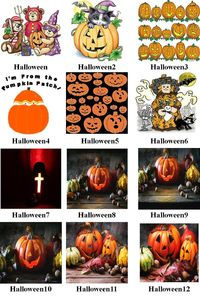 Halloween #1-12 Mural Art Ceramic Tile, Halloween Home Decor, Decoration Art Accent Gifts, Decorative, Coasters. Made in USA. $13.99