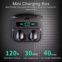 TWS True Wireless bluetooth 5.0 Earbuds Smart Touch 2200mAh Power Bank Stereo Sports Earphone with Mic