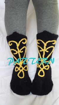 Frozen Princess Anna Crochet Boot Slippers PATTERN by SweetPeaCove, $7.99