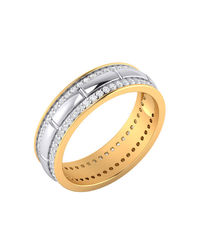 DUAL PLATED STERLING SILVER CZ EMBELLISHED RING