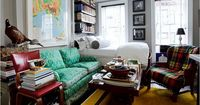 A thrifty young interior designer has fit a world into his tiny Brooklyn studio.