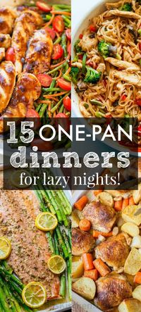 The Best One Pan Recipes to get you excited about dinner! These low stress one-dish, one-pan, one-pot recipes are creative and delicious with easy cleanup!   natashaskitchen.com
