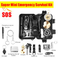 13-in-1 SOS Emergency Camping Hiking Survival Equipment Outdoor Gear Tactical Multifunctional Tools Kit