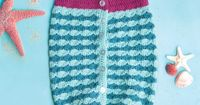 Mermaid Cocoon   crochet today   Swaddle your sweetie in seaworthy shades!