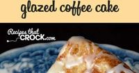 Do you love coffee cake? Then you will want to check out this Crock Pot Glazed Coffee Cake from Gooseberry Patch's Slow-Cooker Christmas Favorites! Delicious! A