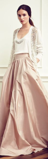 Jenny Packham Resort 2015. I absolutely love this outfit and it is so me. Just need a tank that comes up higher.