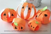 Looking for a super easy fall pumpkin craft? Look no further, I have paper strip pumpkins on the blog today! Check it out! http://www.confessionsofahomeschooler.com/blog/2014/10/paper-pumpkin-fall-craft-idea.html