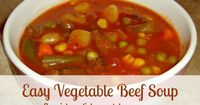 Easy Vegetable Beef Soup - Here's an easy and nutritious vegetable beef soup recipe that is simply delicious! It's a perennial classic in our home for chilly, fall or winter days (or anytime, for that matter).