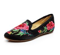 Chinese Women Shoes Embroidery Flats Vintage Pointed Toe Ballet Woman Casual Loafers $45.71