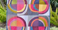 quilt-stuff: improv circles wall quilt by ericajackman on Flickr.