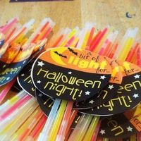 Glow sticks for Halloween treats! I love the idea of giving out something non-candy! And it would keep my husband out of the candy too!