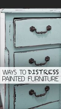 There are a few ways you can distress your painted furniture. Here are some of the different techniques you can�€� Read more »