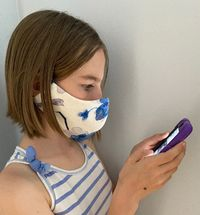 Face Mask for adults and kids, Face mask with filter pocket and nose wire, Adults Facial Mask, Custom Mouth Mask 100% linen $25.00