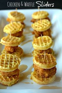 Chicken & Waffle Sliders Recipe - Game Day Recipe