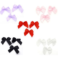 Pack of 50 Mini Ribbon Bow Appliques. Different Colours Available. Clothing and Xmas Crafts £5.99