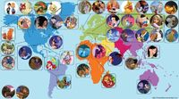 Cool map of Disney movies (but Ariel is in the wrong spot, just cause Sebastian has a Jamaica accent)