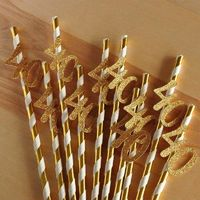 10pcs Paper Straw with Numbers $8.99