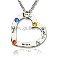 Family Names Birthstones Heart Necklace Christmas Gift https://www.gullei.com/family-names-birthstones-heart-necklace-christmas-gift.html
