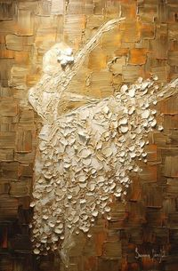 ballerina painting, the artist and the dress.