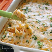 Hot and Spicy Buffalo Shrimp Dip | Skinnytaste -----Move over buffalo wings, this hot and cheesy shrimp dip will have everyone going back for more!
