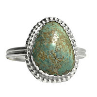 Chunky Boho Silver Variscite Stone Cuff Bracelet | Nevada Variscite Mineral | Sterling Silver Stone Jewelry $85.00