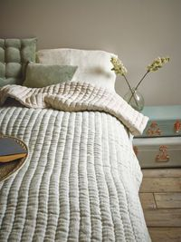 Striped Linen Quilted Bedspread NEW - Bedroom - Bed & Bath - Home #coxandcox