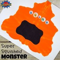 Children will have a blast squishing paint inside of a folded piece of paper and transforming the blob to become a Super Squished Monster Craft.