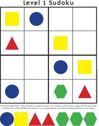 Problem solving! But I would like to see these made with the shapes & colors of the pattern blocks we already have. That way, kids would have a 3D piece to manipulate instead of flat laminated squares. Print 4-5 copies for a station with NO title. Tha...
