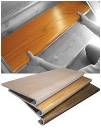 Starecasing: With the StareCasing System three-step installation process, you just measure, cut and install. The patented tread and riser overlays fit over your existing staircase like a glove. No messy demolition. No guesswork. Just beautiful hardwood st...